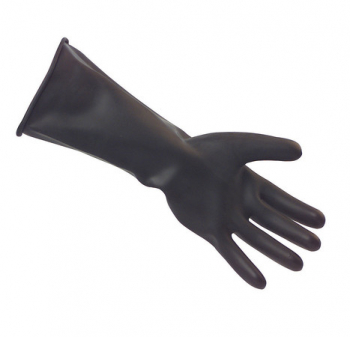 Heavy Weight Black Rubber Gloves