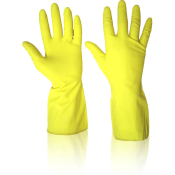 Yellow Rubber Gloves x 12