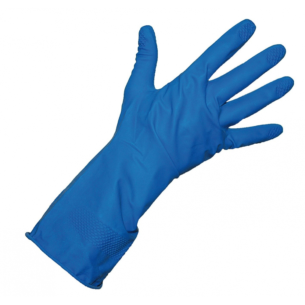 Blue Rubber Gloves x 12