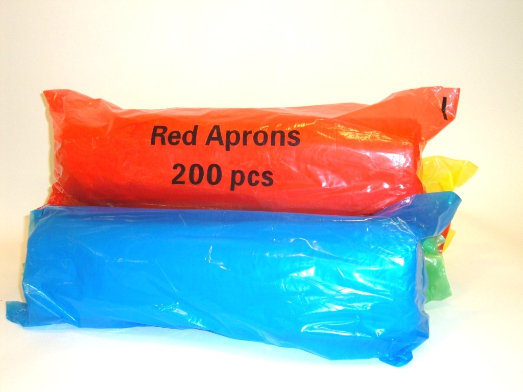 Disposable Aprons on a Roll - Red