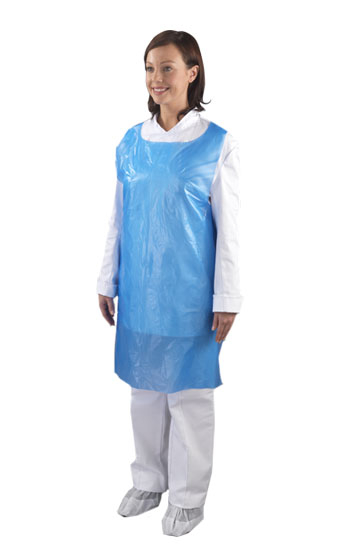 Disposable Aprons on a Roll - Blue