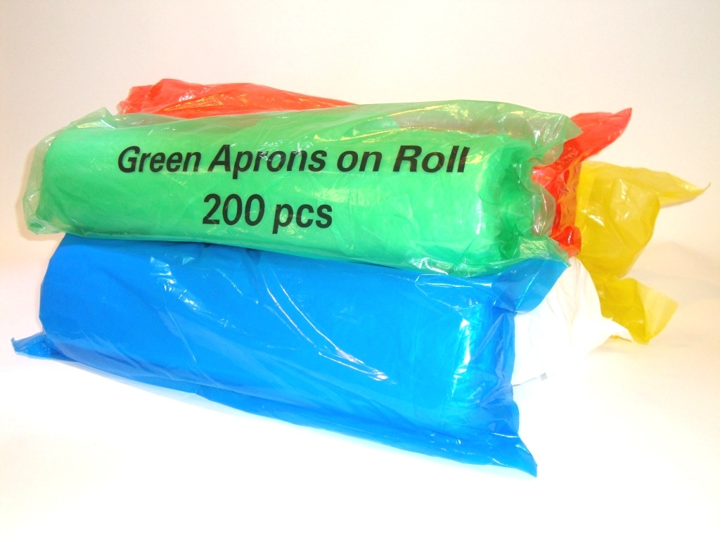 Disposable Aprons on a Roll - Green
