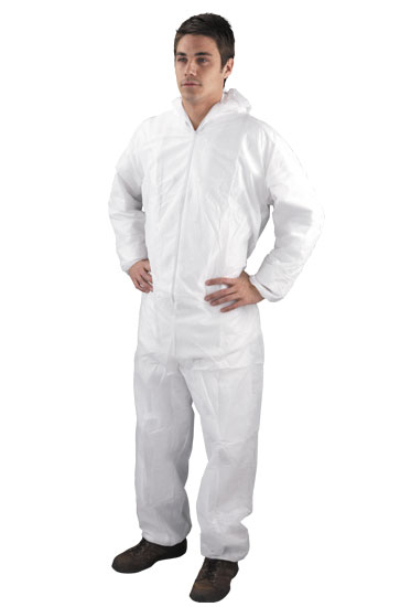 White Hooded Coverall