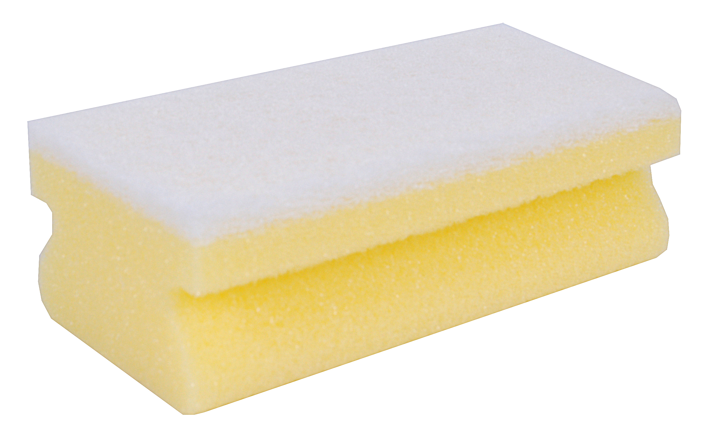 Coloured Foam Backed White Scourer Sponge x 10