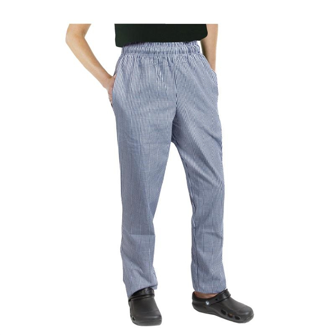 Chef Works Unisex Easyfit Chefs Trousers Small Blue Check S