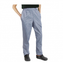 Chef Works Unisex Easyfit Chef Trousers Small Blue Check