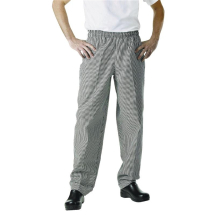 Chef Works Unisex Easyfit Chef Trousers Small Black Check X