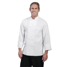 Chef Works Unisex Le Mans Chefs Jacket White Large