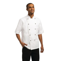 Chef Works Unisex Marche Chefs Jacket Short Sleeve Large
