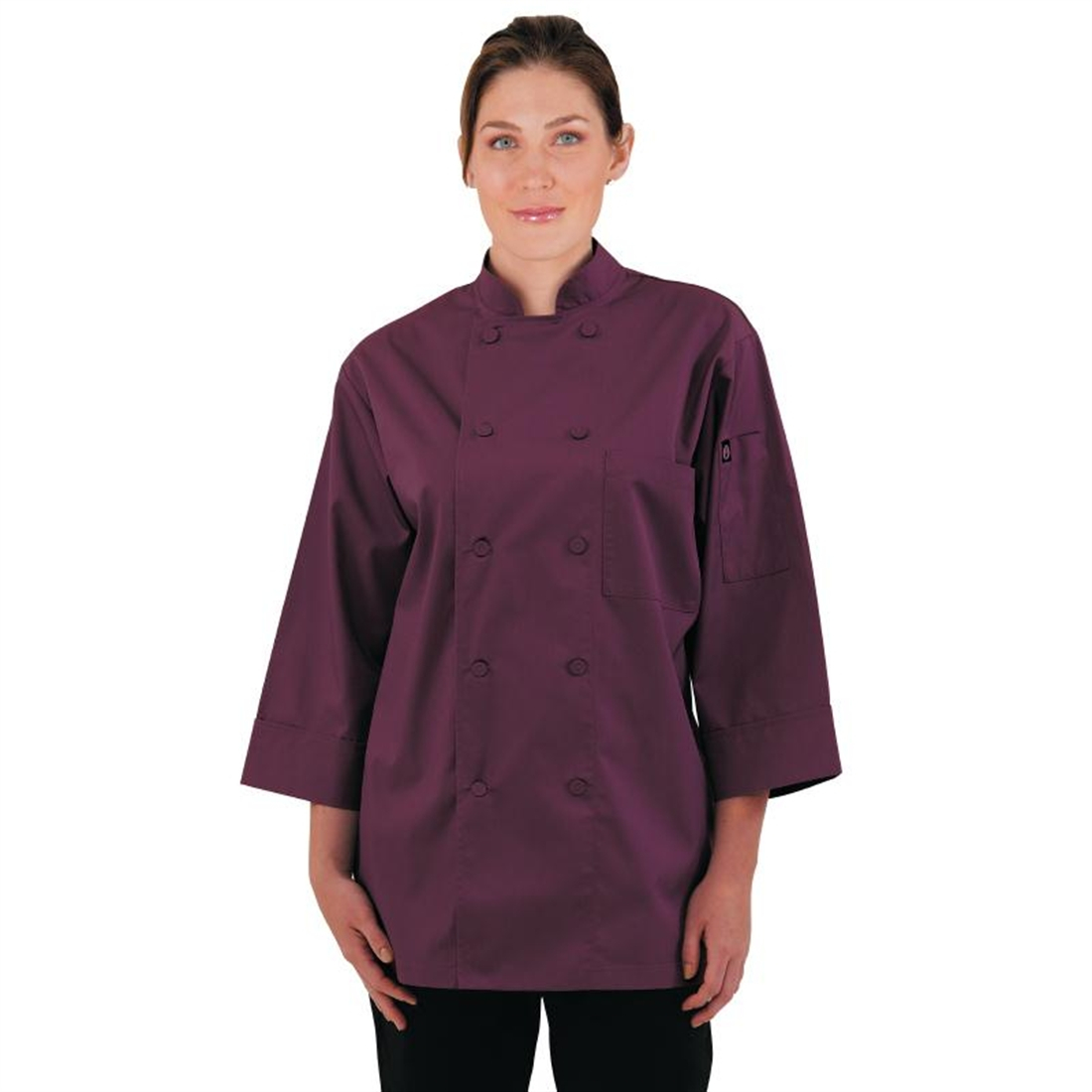 Colour By Chef Works Unisex Chefs Jacket Merlot M