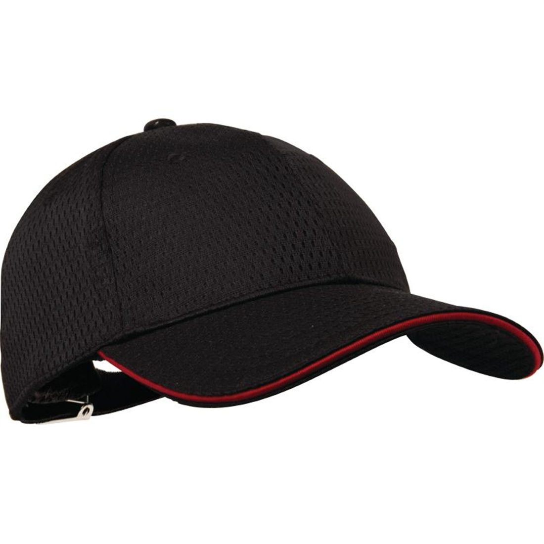 Colour by Chef Works Cool Vent Baseball Cap Black with Red