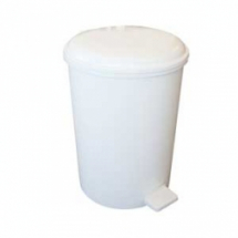 Bathroom Pedal Bin 12Ltr White Plastic