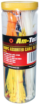 Am-Tech Assorted Cable Tie 500 Pieces