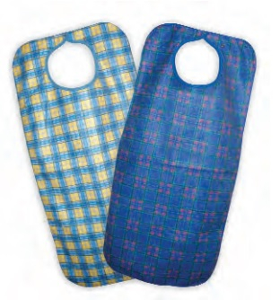 Stuart tartan Bibs with SNAP  closure 45 x 90cm
