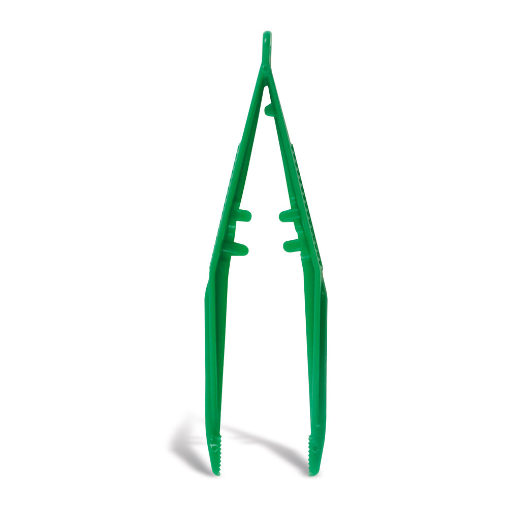 Green Disposable Forceps x 10