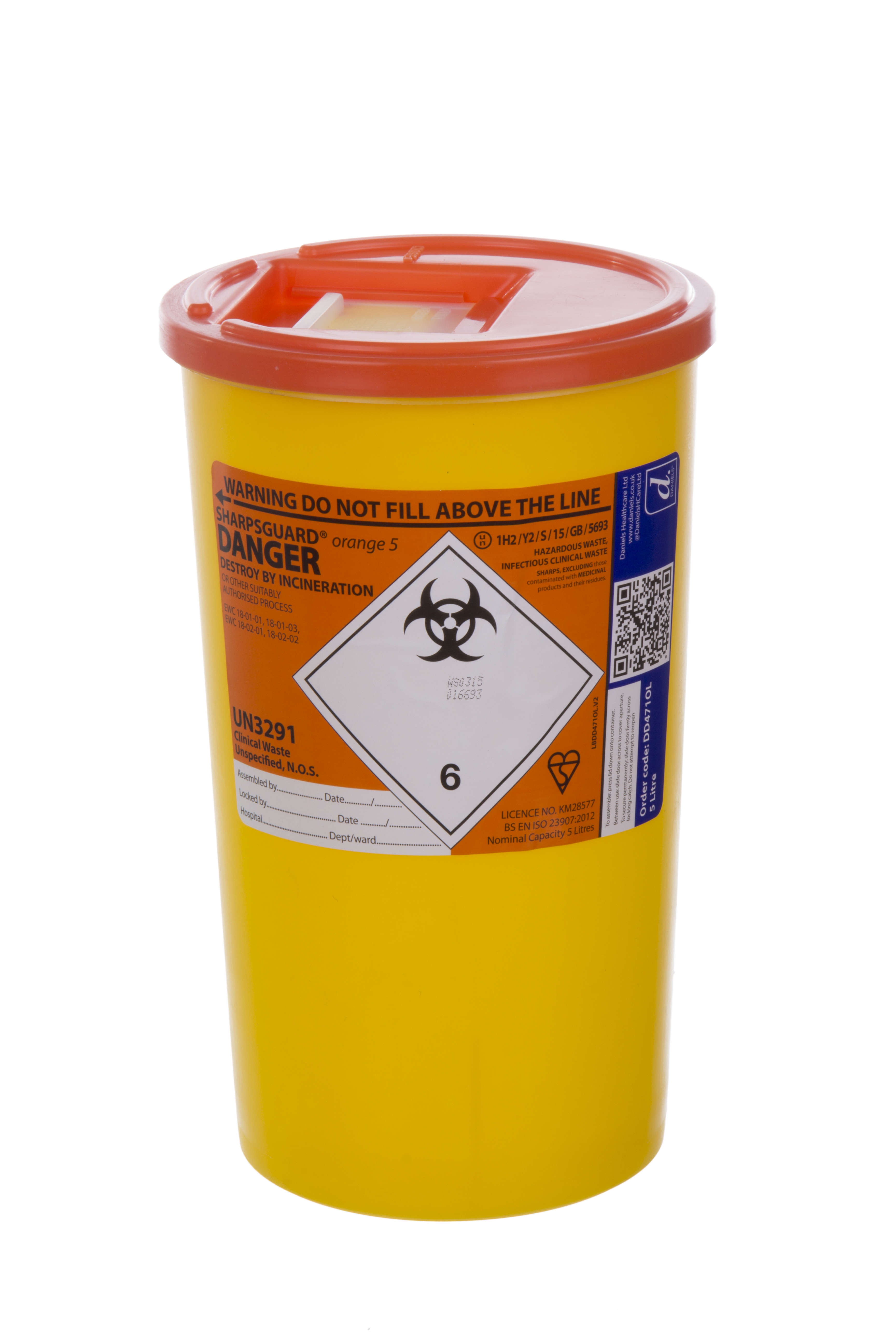 Sharps Container - 5 Litre