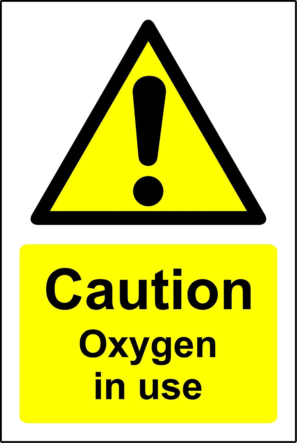 Oxygen in use sign
