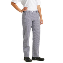 Whites Womens Chef Trousers Blue and White Check 34in