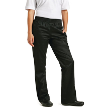 Chef Works Womens Basic Baggy Chefs Trousers Black Medium