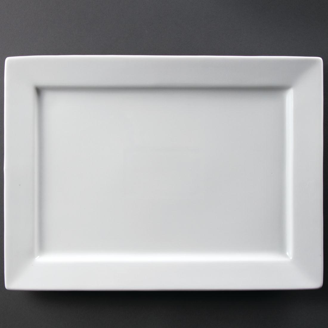 Olympia Wide Rim Rectangular Platter 400x 295mm