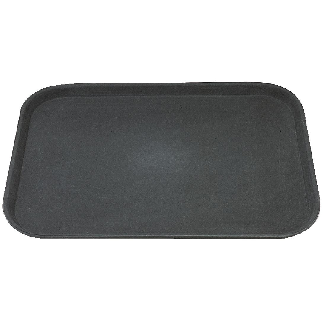Kristallon Plastic Non Slip Tray Black 15 x 20 in