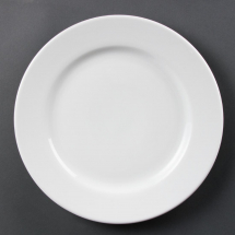 Olympia Whiteware Wide Rimmed Plates 310mm Pack quantity: 6