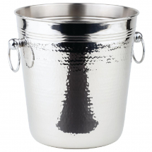 APS Hammered Stainless Steel W ine And Champagne Bucket