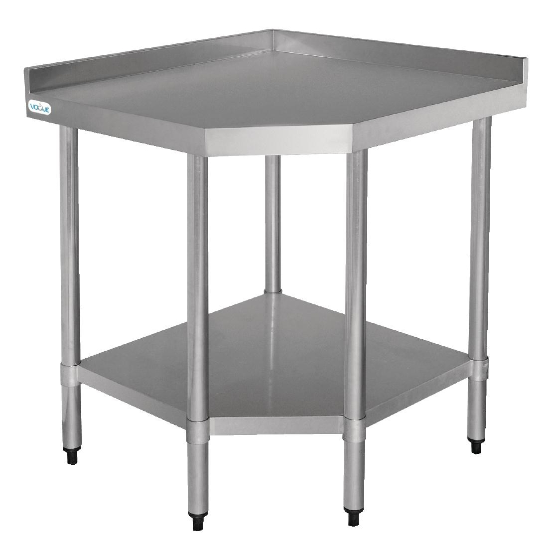 Vogue Stainless Steel Corner Table 600mm