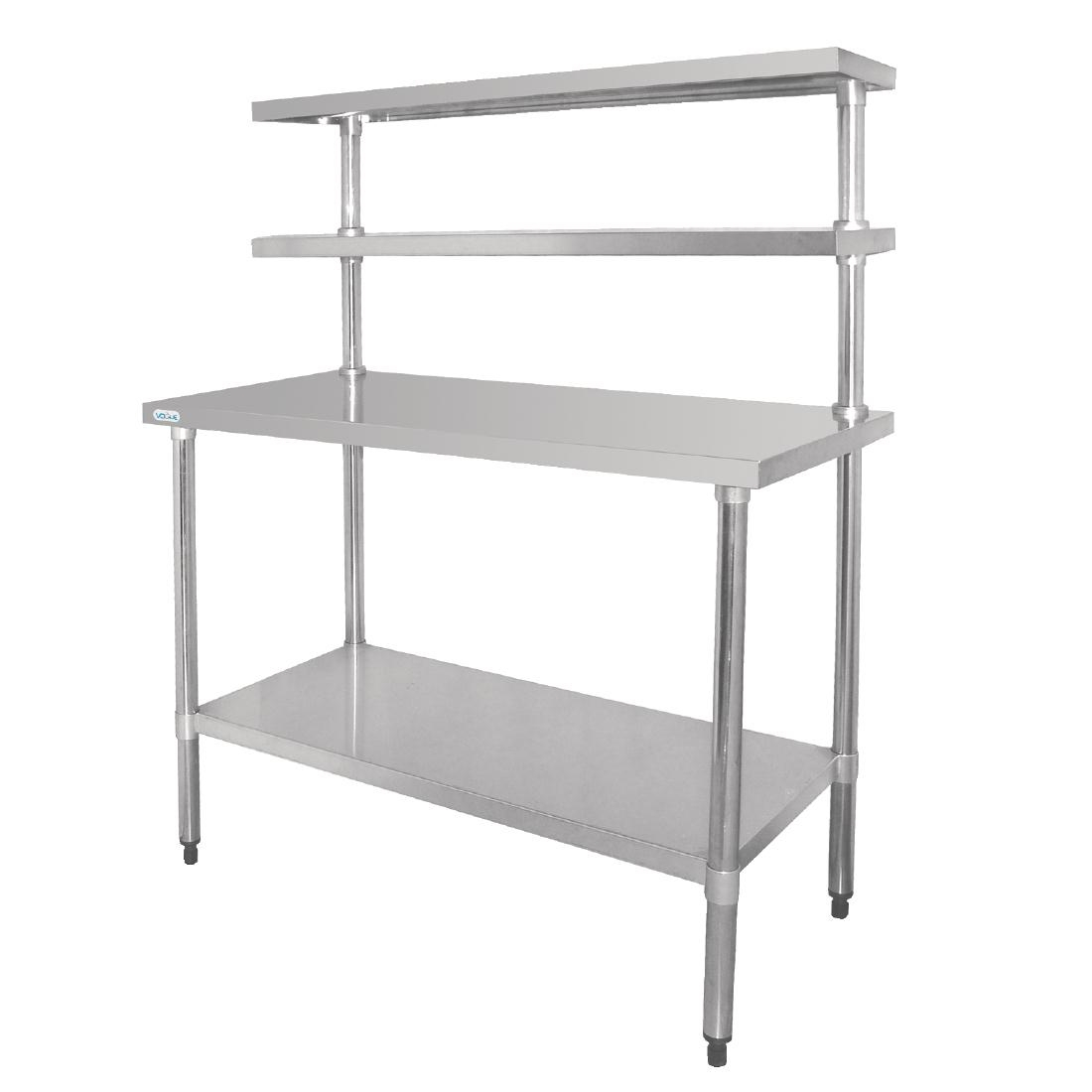 Vogue Stainless Steel Prep Station 1800x600mm
