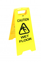 Caution Wet Floor/Cleaning In Progress 2Side Saftey Sign