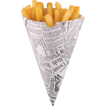 Disposable Newspaper Print Pap er Chip Cones
