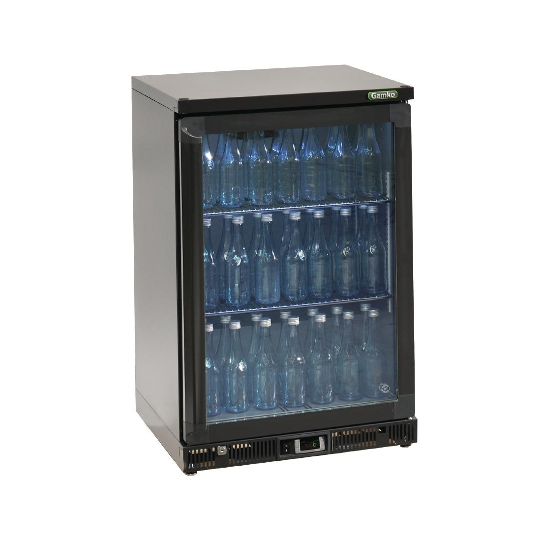 Gamko Bottle Cooler - Single Hinged Door 150 Ltr Black