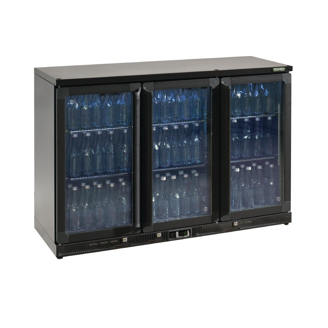 Gamko Bottle Cooler - Triple Hinged Door 315 Ltr Black