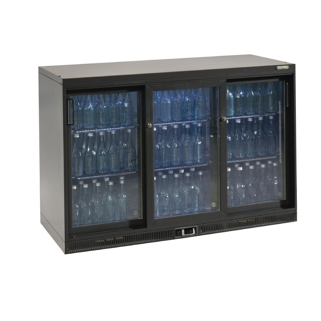 Gamko Bottle Cooler - Triple Sliding Door 315 Ltr