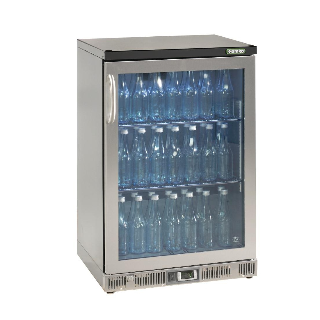 Gamko Bottle Cooler - Single Hinged Door 150 Ltr Stainless Steel