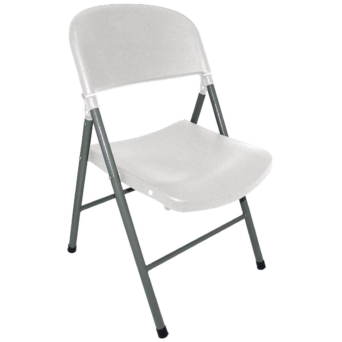 Bolero Foldaway Utility Chairs White (Pack of 2)