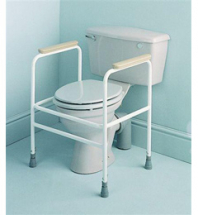 Adj Steel Toilet Surround With Floor Fixing Feet