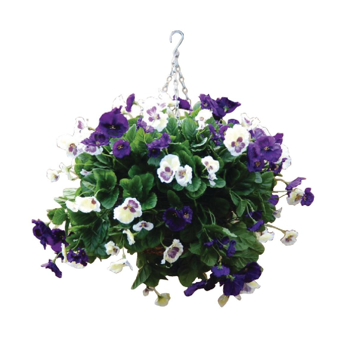 22inch Purple and White Pansy Ball