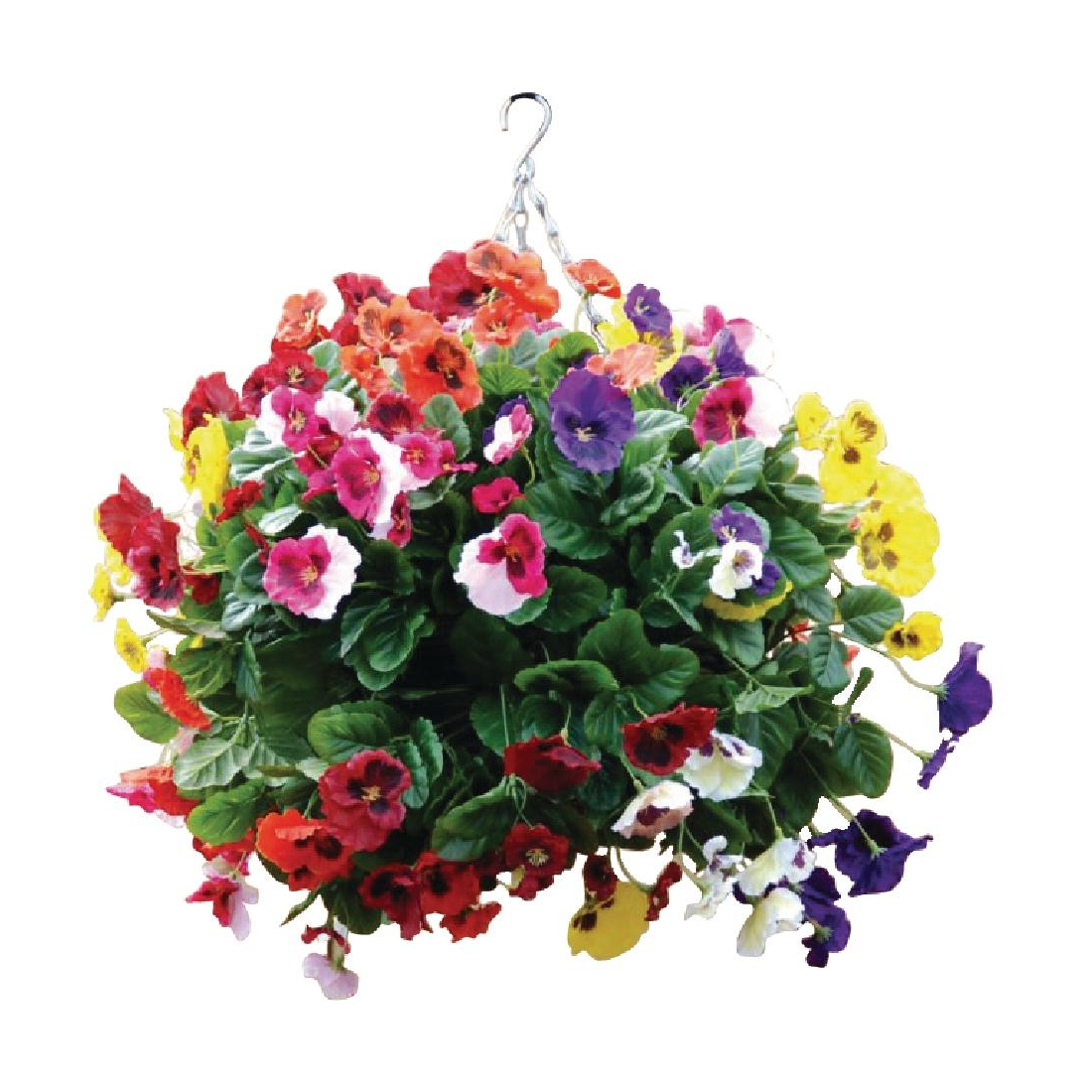 22inch Mixed Colours Pansy Ball