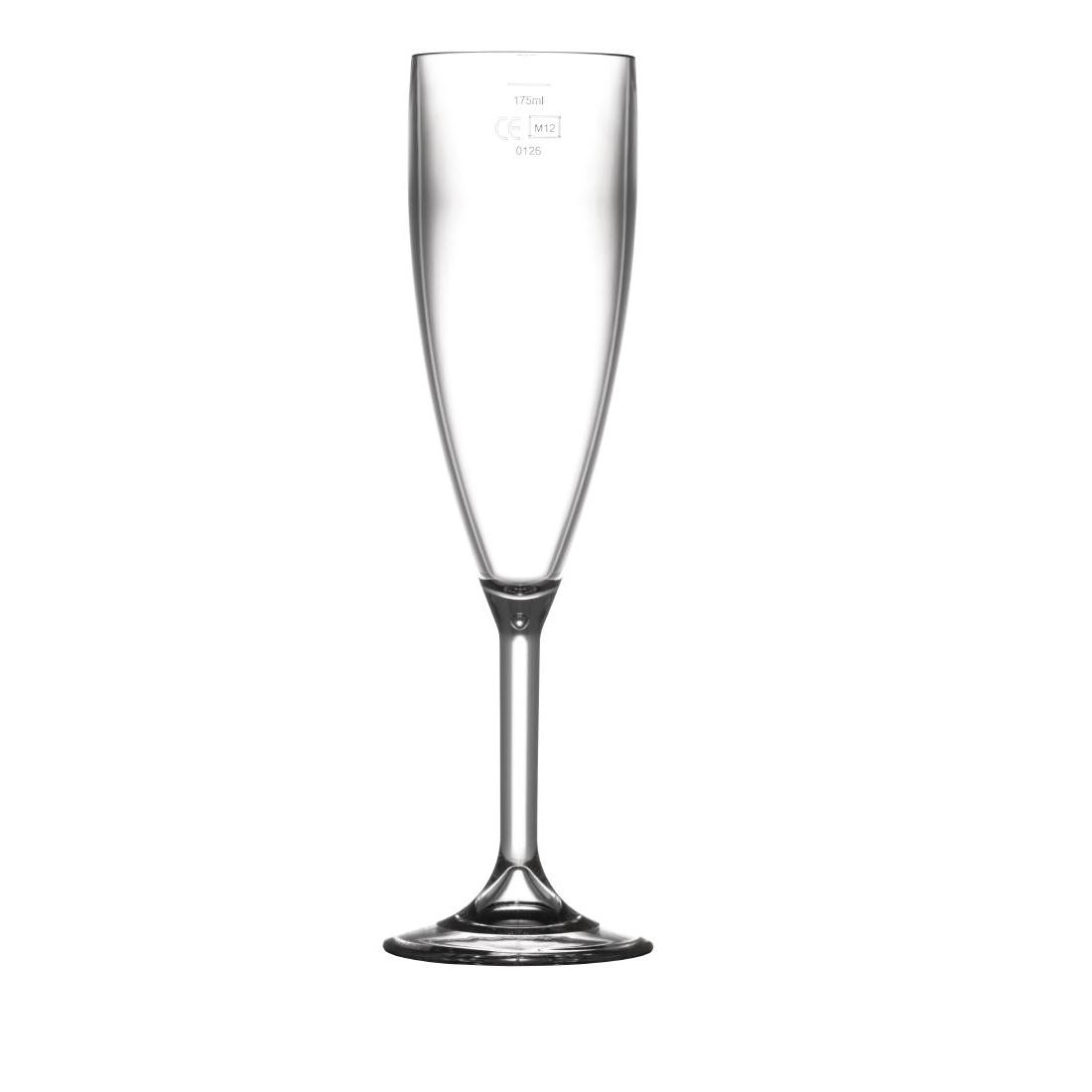 BBP Polycarbonate Champagne Flutes 200ml CE Marked at 175ml