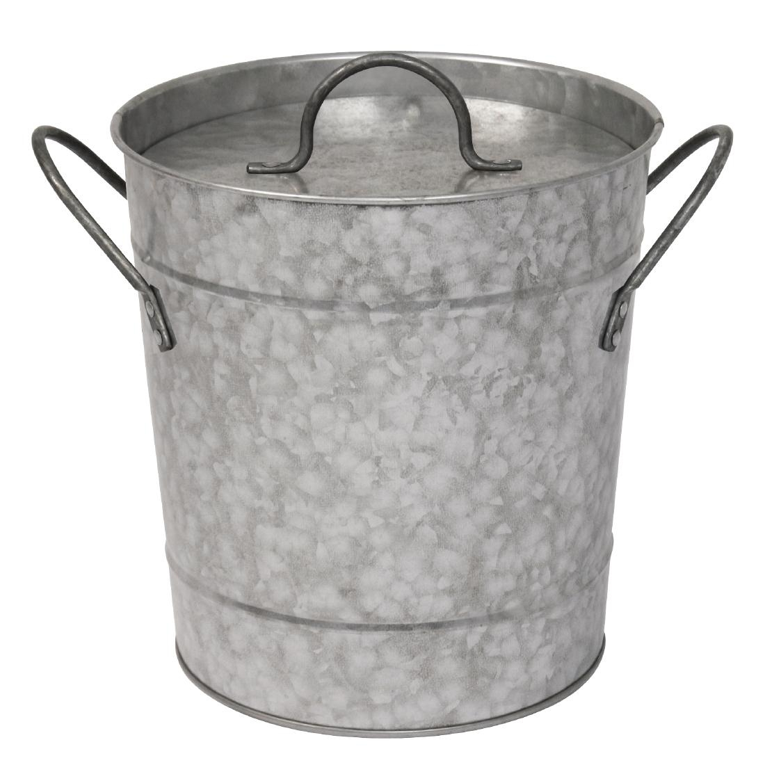 Olympia Galvanised Steel Wine And Champagne Bucket With Lid
