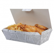 Disposable Food Tray Newsprint Food Trays 250mm