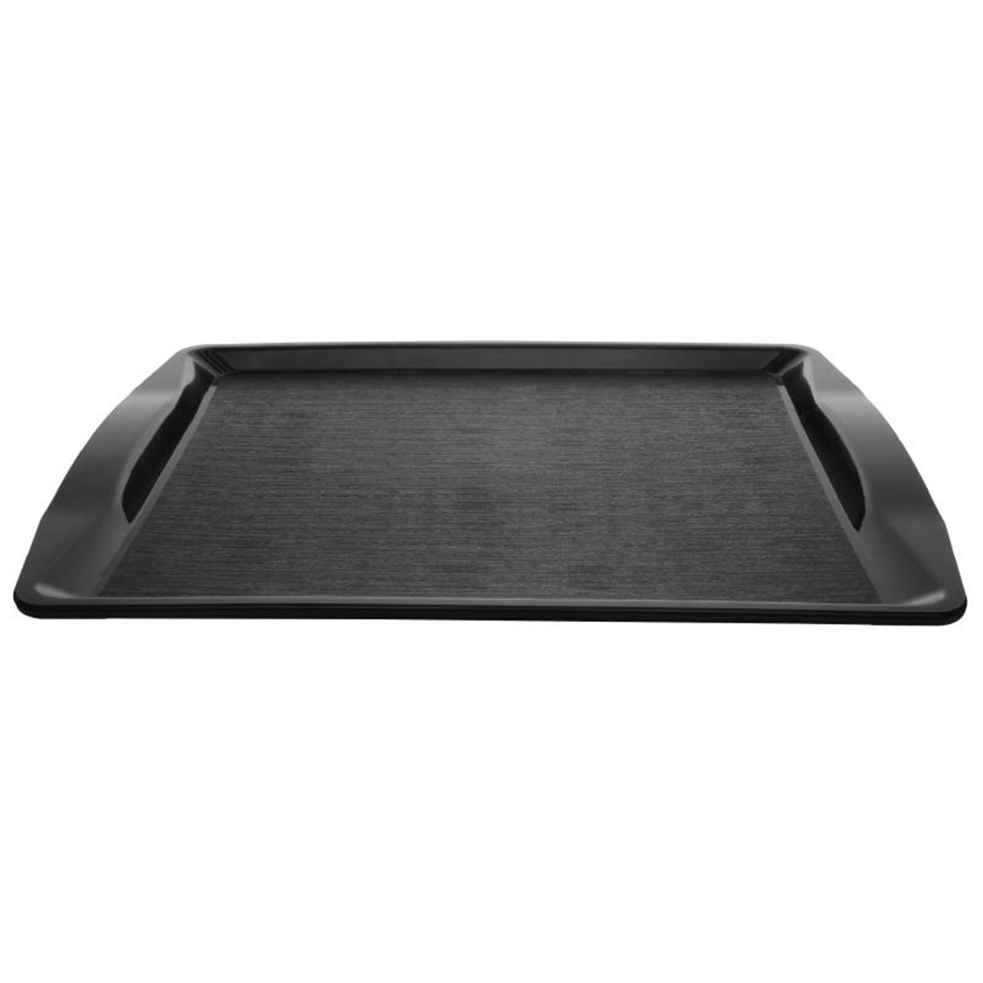 Kristallon Handled Fast Food Tray Black 420mm