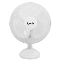 12inch Oscillating Desktop Fan White - 3 Speed Settings