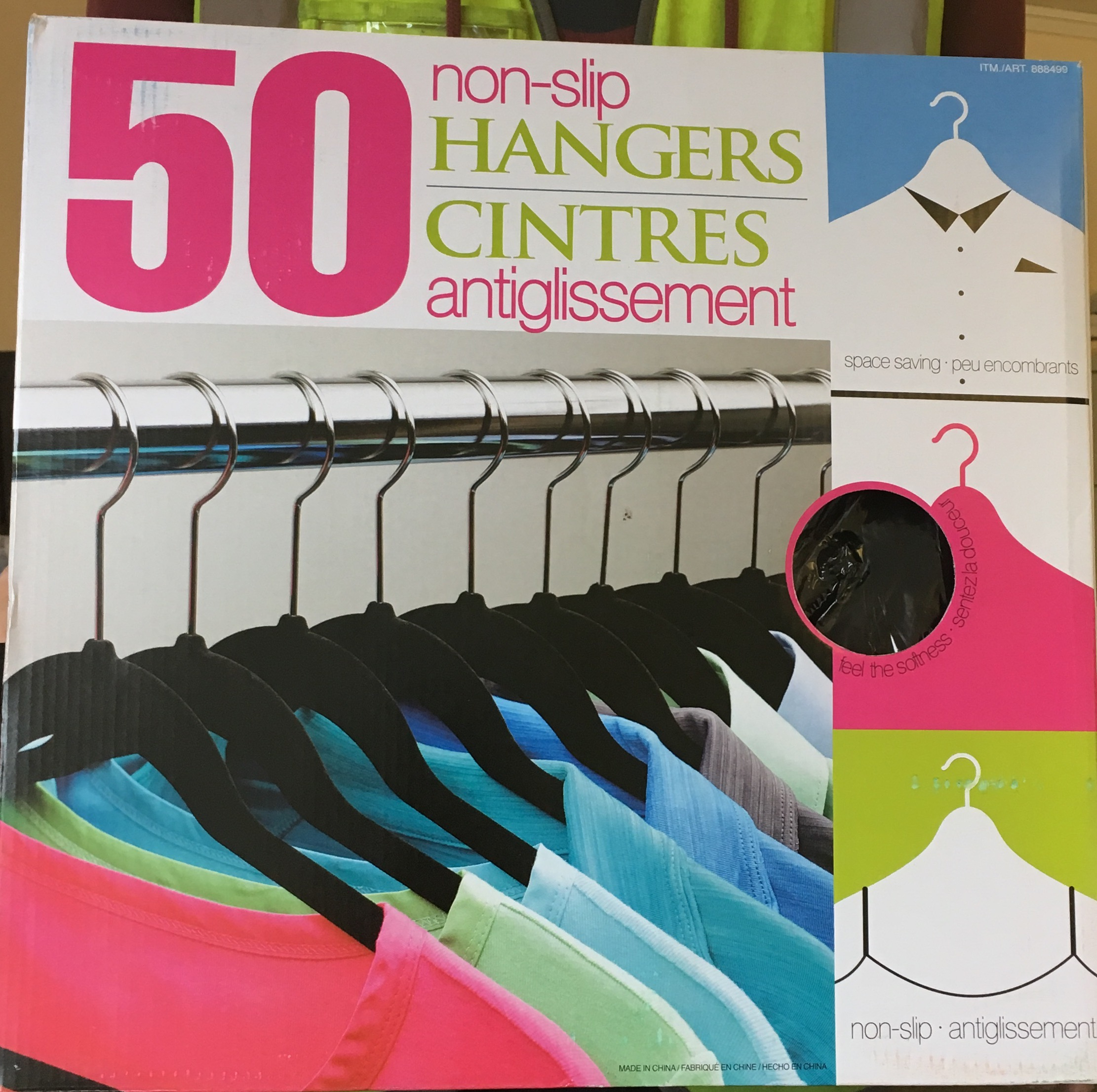 50 Non Slip Coat Hangers with Hooks