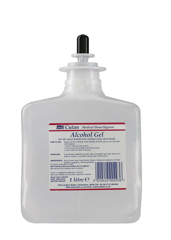 Cutan Alcohol Gel Refill - 6 x 1L
