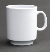 Kristallon Melamine Mugs White 340ml - 12oz - Box of 6