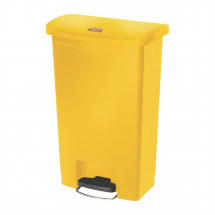 Rubbermaid Slim Jim Step on Bi n Front Pedal 50Ltr Yellow