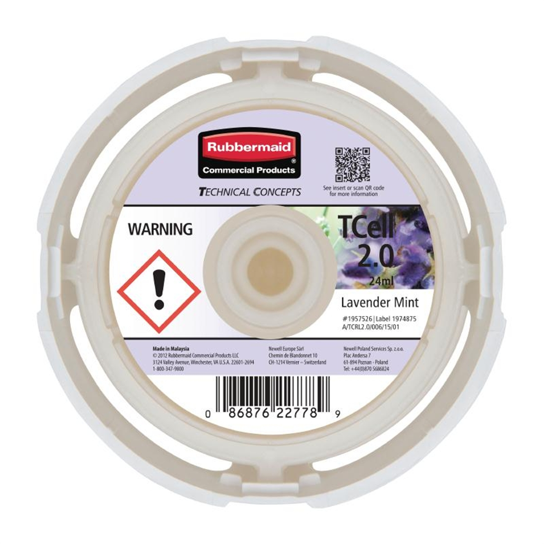 Rubbermaid TCell 2.0 Refill Lavender Mint
