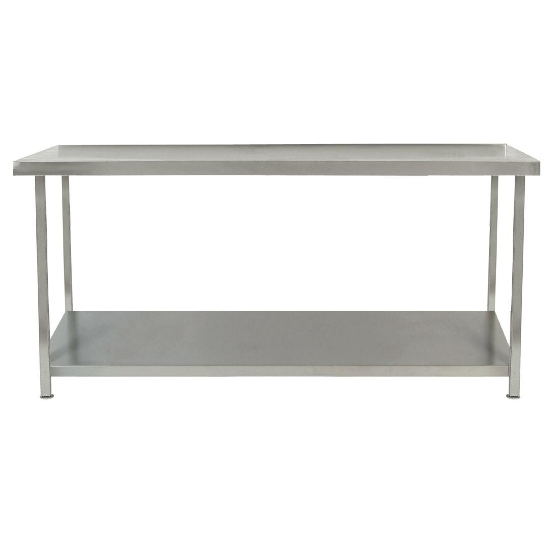 Parry Fully Welded Stainless Steel Centre Table with Undershelf 1800x600mm
